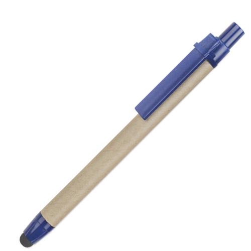 penne personalizzate in cartone riciclato con touch blu