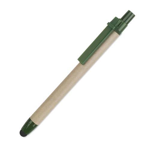 penne personalizzate in cartone riciclato con touch verde