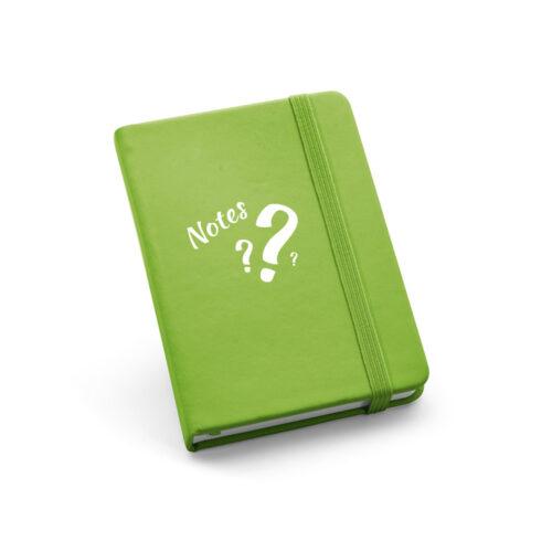 quaderno personalizzato tascabile verde chiaro